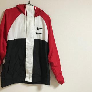 新品 レッド  Lサイズ NIKE  スウッシュ ウーブン ジャケット