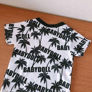 (最終お値下げしました)ベビードールTシャツ(白に黒柄)い…