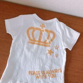 最終お値引きです ベビードールTシャツ(白地に黄色柄)いか…