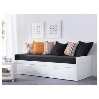 IKEAベッド シングル・ダブル両用 収納たっぷり
