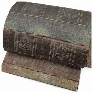 特選 名古屋帯 正絹 横段 華模様 名古屋帯 絹 リサイクル帯