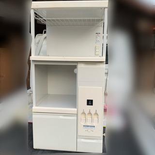 【受取人決定】米びつ付き レンジ台 キッチン収納