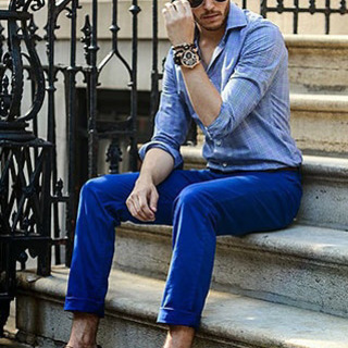 デニム パンツ ブルー