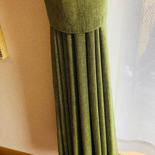 (受付終了)カーテン(グリーン)+レースカーテン(ニトリ)