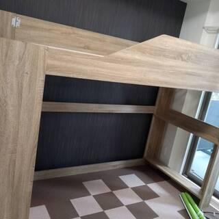 木製ロフトベッド シングル 幅102、奥行232、高さ165cm
