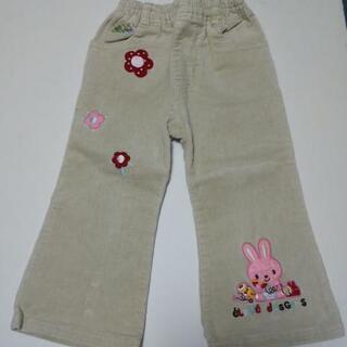 子供服 女の子 90サイズ 長ズボン パンツ うさぎ