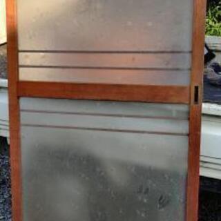 昭和レトロ ガラス引き戸