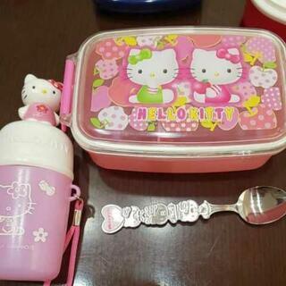 Hello Kitty お弁当箱 スプーン おしぼり入れ セット