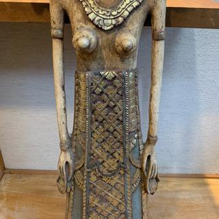木彫りバリのお姫様 アンティーク