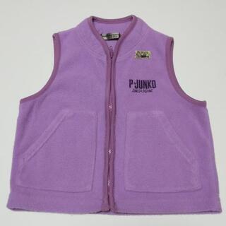 子供服 女の子 90サイズ スリーパー ベスト 紫