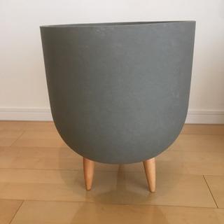 鉢カバー プランターカバー セメント 木脚