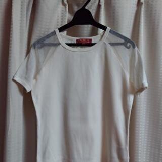 未使用 綿Tシャツ(ショルダー部分メッシュ) サイズ2