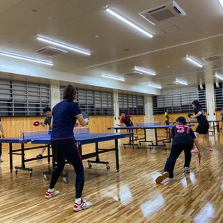 卓球の経験者から未経験者、運動がしたい、飲み会のみ参加など幅広い...