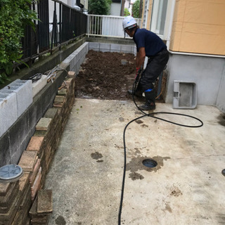 家周りの汚水管高圧洗浄格安で施工致します✨