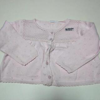 子供服 女の子 90サイズ 長袖 カーディガン ピンク 羽織物