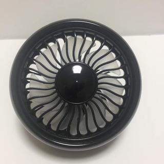 【新品】小型扇風機 車用 エアコン口取付型 風量3段階 LEDライト USB - 売ります・あげます