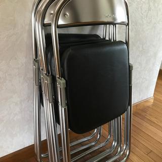 コクヨ パイプ椅子4脚セット
