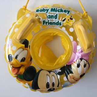ディズニー 足入れ 浮き輪 ベビー ミッキー  ミニー