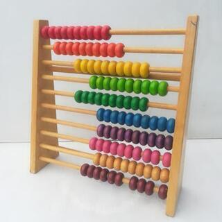 木 おもちゃ 数遊び 42 x 43.5 x 12