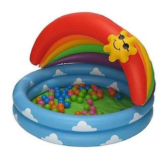 屋根付き 子供用 幼児用ビニールプール(ボールなし) Parad...