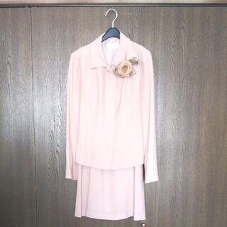 【ネット決済・配送可】スーツ+ワンピース3点セット サーモンピン...