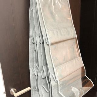 4セット バッグ 鞄 収納 グレー 新品未使用品