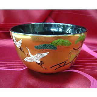 札幌【茶器③】 鶴と松と牛車 金色 金彩風 インスタ映え …