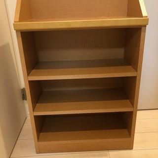 木目調ラック 書棚 幅60×奥行30×高さ87cm