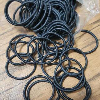 ヘアゴム100本 黒 直径2,5 キッズ ハンドメイド