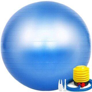 新品未使用 バランスボール ヨガボール  ( ブルー、65cm)