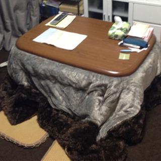 【無料】ニトリ こたつテーブル こたつ布団付き - 売ります・あげます