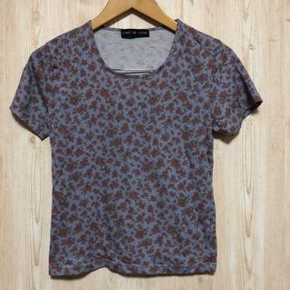 花柄グレーTシャツ Mサイズ