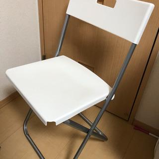 IKEA パイプ椅子 ホワイト