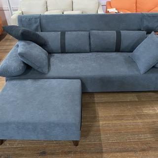 一番人気の新品ソファーベッド!足置き付き!クッション付き!リモ...