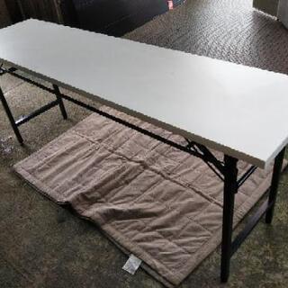 [折り畳み会議机オフィステーブル]白①:リサイクルショップヘルプ