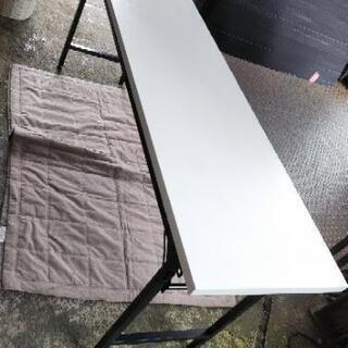 [折り畳み会議机オフィステーブル]白②:リサイクルショップヘルプ