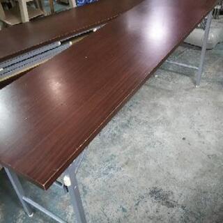 [折り畳み会議机]オフィステーブル茶:リサイクルショップヘルプ