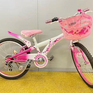 美品 ピンクで女の子らしい子供用自転車