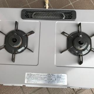 ノーリツ テーブルコンロ ライトグレーホーロートップ 水あり片面焼グリル 都市ガス用 右強火 シルバーフェイス NG60SVR(0629I) - 名古屋市