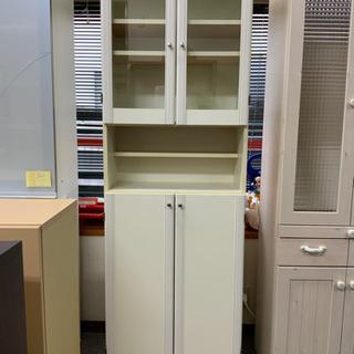 食器棚 スリム ホワイトです^ - ^
