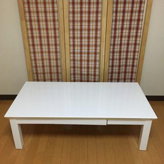 【取り引き中】お洒落センターテーブルホワイトの画像
