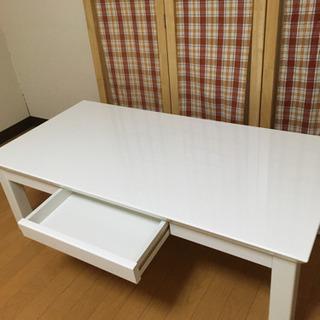 【取り引き中】お洒落センターテーブルホワイト - 旭川市
