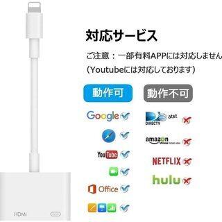 【新品・未使用】iPhone HDMI 変換ケーブル - 千代田区