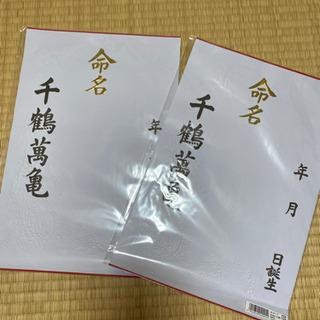 新品 命名紙  大サイズ 3枚組