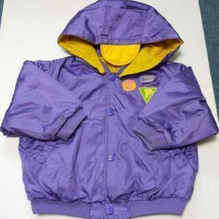 子供服 女の子 男の子 90サイズ ジャンパー アウター 紫