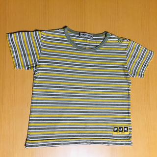 コシノ  ジュンコ ストライプTシャツ 95cm フーセンウサギ