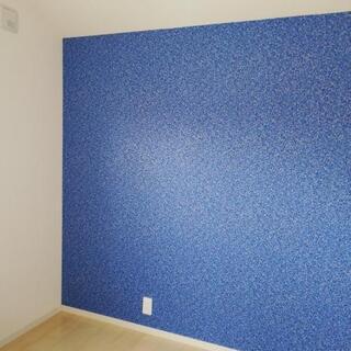 西海岸風 壁紙 ブルー 生のり付き