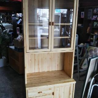 [ナチュラル食器棚レンジボート]:リサイクルショップヘルプ