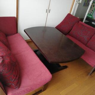 昇降式テーブル ソファあげます!