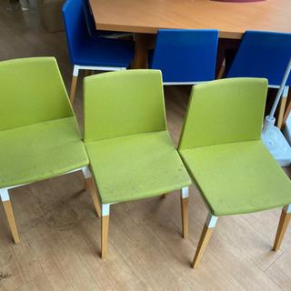 緑色の椅子×6 (中古)